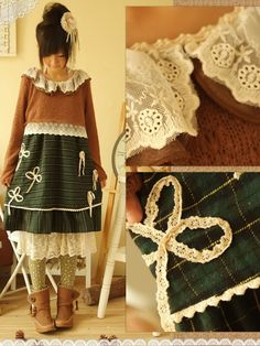 lace layered bow applique dress $53 #asianicandy #kawaii #japanese #kstyle #asianfashion #sweet #style #mori