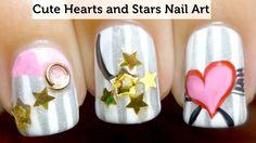 wwwnailsmagcom nailart, heart, naildesign nailpolish, nailpolish makeup, stars, nailart nailsdesign, nail arts, star nail, nailart naildesign