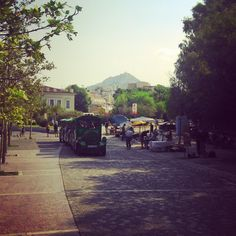 the little train-car at #Thisio #Athens #Greece
