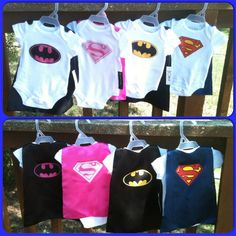 Superhero Baby Onesie with Detachable Satin Cape by JustKidnDesigns, $22.00