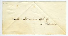 """""""With the sincere spite of a woman."""" Emily Dickinson envelope fragment."""
