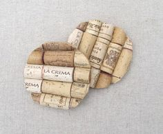Great Christmas Gift- DIY Wine Cork Coasters