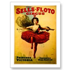 Vintage Sells-Floto Circus Poster Postcards