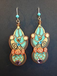 Au1erCoupdOeil made this polymer clay earrings $52 on Etsy