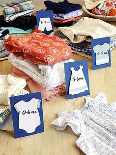 """Host a clothing swap for a mom's second #babyshower so all in attendance can swap and surprise the mom-to-be with """"new"""" items for her kids."""