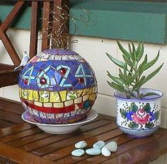 How to mosaic a bowling ball :)