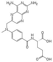 Methotrexate (rINN) [Trexall], abbreviated MTX and formerly known as amethopterin, is an antimetabolite and antifolate drug.