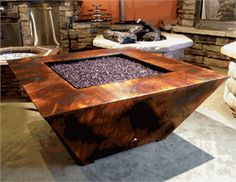 Gorgeous firepit table for commercial use.