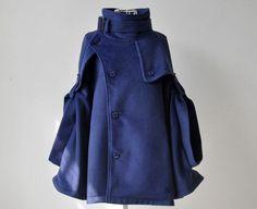 navy blue cape