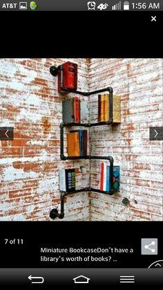 Piping corner shelf
