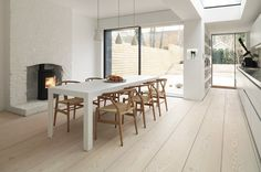 This floor is beautiful. Luxuriously long Douglas fir planks