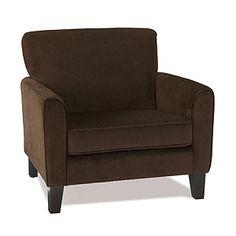 Monroe Corduroy Chair, Coffee   World Market