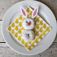 powdered doughnut bunny