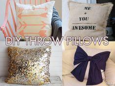 #DIY Throw Pillows!