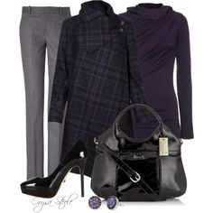 """Purple Plaid"" by orysa on Polyvore"