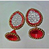 red-and-golden-jhumkas