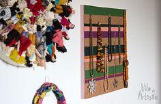 Faça um quadro para suas bijus usando cortiça.  #craft #decor #diy
