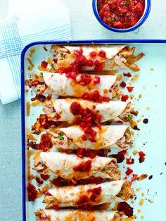 Fiesta Chicken Enchiladas   KitchenDaily.com