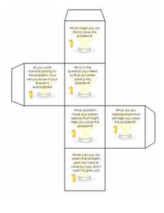 MVP Cube #1 - Making Sense of Problems CCSSM  FREE download of two cubes that can be used to discuss or write about the first Mathematical practice in the Common Core!  Great tool for problem solving!!