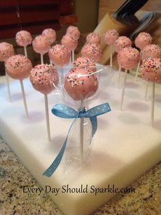 birthday cake pops, cake pop diy, diy tutorial, finish cake, cake pops diy, food yum, recip, baby showers, birthday cakes