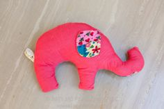 cute stuffed elephant toy with free pattern and tutorial. great baby gift! (You'll have to scroll down a ways . . . )