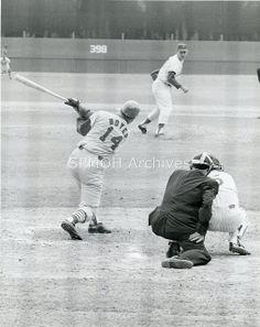 St. Louis Cardinal Ken Boyer bats against the NY Mets  1965
