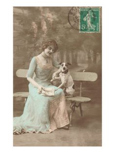French Woman Talking to Rat Terrier.