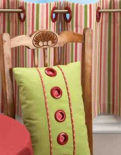 Grommets make a cool way to spice up accent pillows. :)