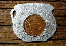 1904 ST. LOUIS MO. WORLDS FAIR CHAMBER POT SHAPE ENCASED INDIAN HEAD CENT, RARE