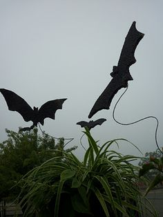 .DIY Floating Outdoor Bats - Made from packing foam sheets - tutorial