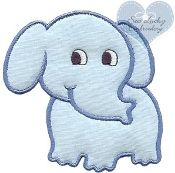 Elephant Embroidered Applique Patch