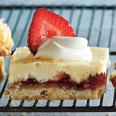 40 Fresh & Juicy Strawberry Recipes | Strawberry-Lemon Shortbread Bars | SouthernLiving.com
