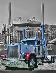big truck, american truck, semi truck, shine truck, beauti truck