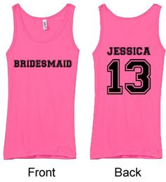Personalized Bachelorette Party Tank Top - Bridesmaids