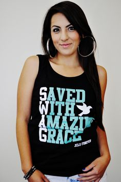 029-TANKTOP SWAG BLK/TEAL-Christian Shirt by JCLU Forever Christian t-shirts