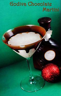 Godiva Chocolate Martini & Eggnog Martini