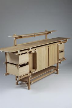 Sideboard, Elling. Designed by Gerrit Rietveld, Holland. 1919.