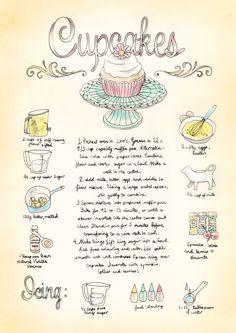 Cupcakes Illustrated Recipe / becwinnel.com