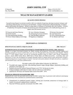 best finance resume templates samples on pinterest