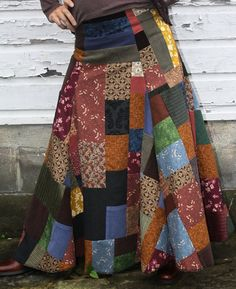 patchwork skirt by hollydazecreations on etsy