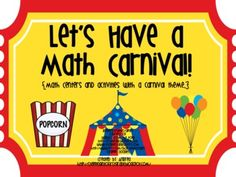 Let's Have a Math Carnival! This is filled with fun activities that are perfect for an end-of-year review for first grade. $4.00