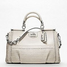 I'm in love... MADISON WOVEN LEATHER CAROLINE DOWEL SATCHEL