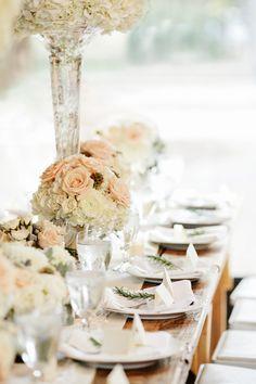 rose centerpieces   Kristyn Hogan #wedding