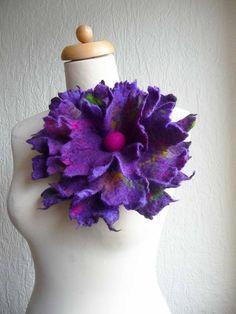 felted flower corsage pin brooch handmade by FeltedArtToWear, £20.00