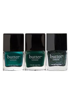 butter LONDON - 'Emerald Crush' Nail Lacquer Trio