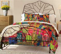 African fabric duvet