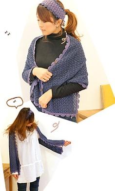 2-way Shrug diseñado por Pierrot (Gosyo Co., Ltd)  http://www.ravelry.com/designers/pierrot-gosyo-co-ltd