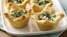 Triple cheesy-spinach crescent bites boast a just right jalapeño kick.