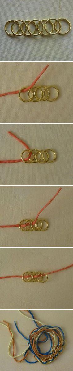 DIY ring bracelet  #handmade #jewelry