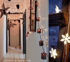 Hanging lights, I just love them anywhere and everywhere